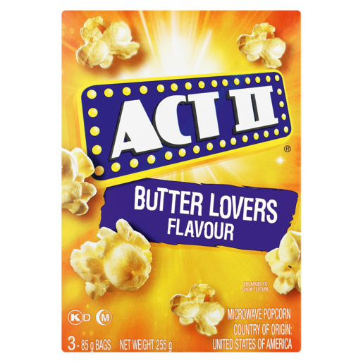 Act II Butter Lovers Flavoured Microwave Popcorn 252g