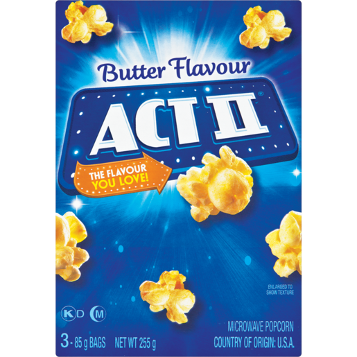 Act II Microwave Butter Popcorn Pack 3 x 252g
