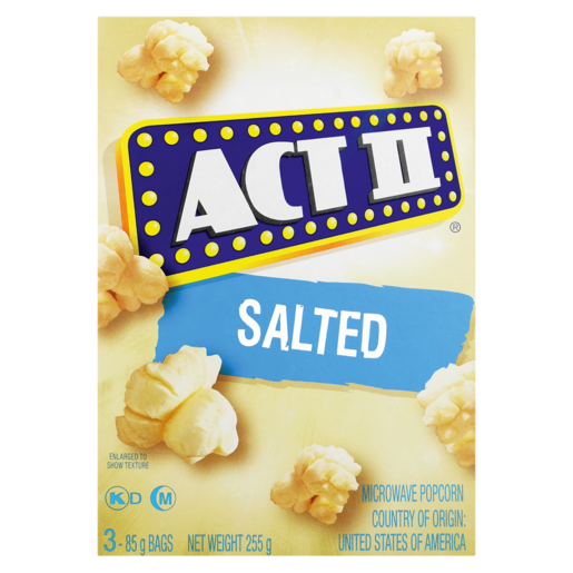 Act II Salted Microwave Popcorn 252g