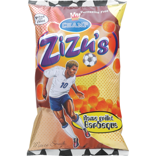 Champ Zizu's Flame Grilled Barbecue Maize Snack 100g