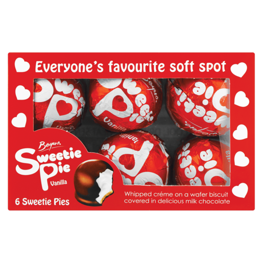 Beyers Chocolate Sweetie Pie Box 6 x 25g