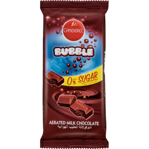 Canderel Bubble 0% Sugar Aerated Milk Chocolate Slab 85g