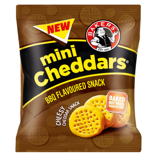 Bakers BBQ Flavoured Mini Cheddars 33g