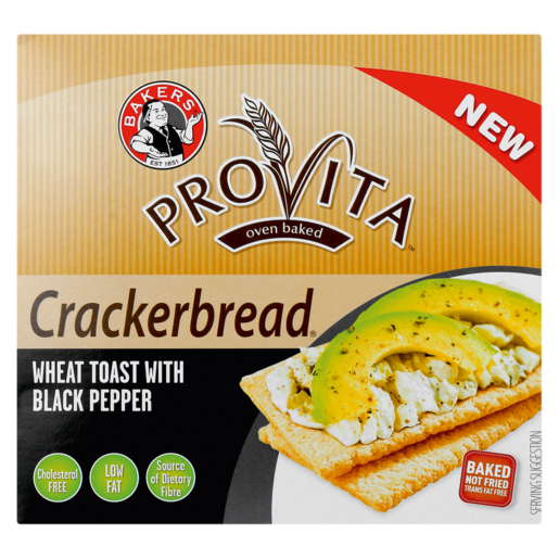 Bakers Provita Black Pepper Flavoured Cracker Bread 125g
