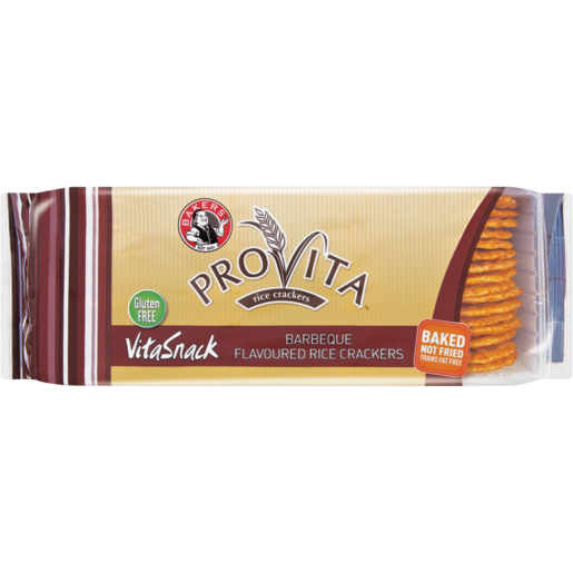 Bakers Provita VitaSnack Barbeque Flavoured Rice Crackers 100g