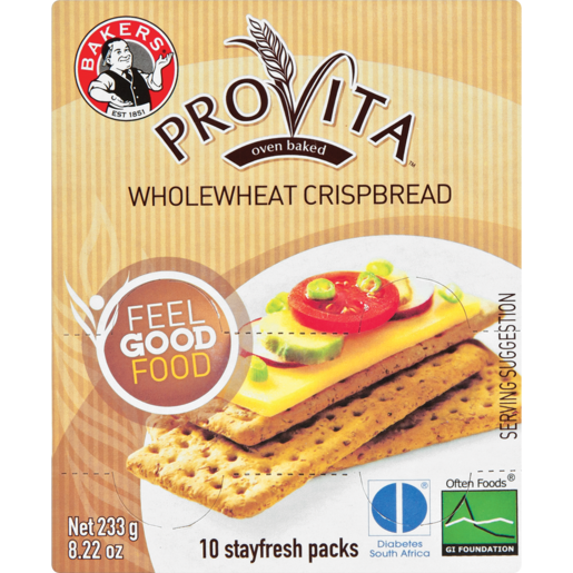 Bakers Provita Wholewheat Crispbread 233g