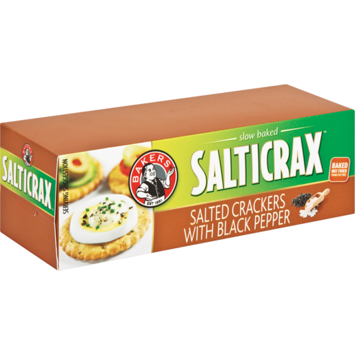 Bakers Salticrax With Black Pepper Crackers 200g
