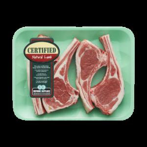Certified Natural Lamb Rib Chops Per kg