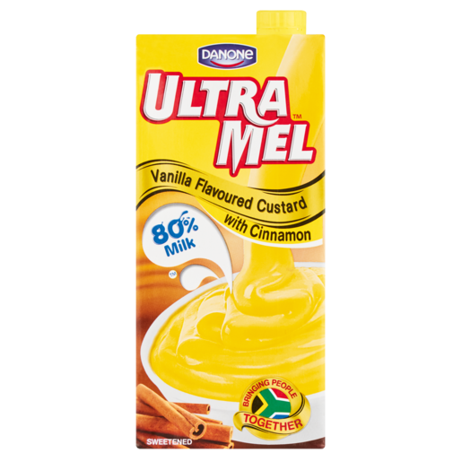 Danone Ultra Mel Vanilla Custard With Cinnamon 1L