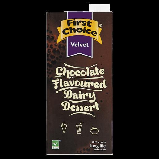 First Choice Velvet Chocolate Flavoured Diary Dessert 1L