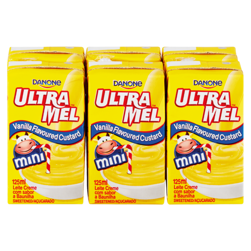 Danone Ultra Mel UHT Vanilla Custard 6 x 125ml