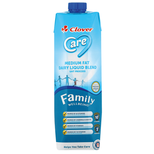 Clover Care Medium Fat Dairy Liquid Blend 1L