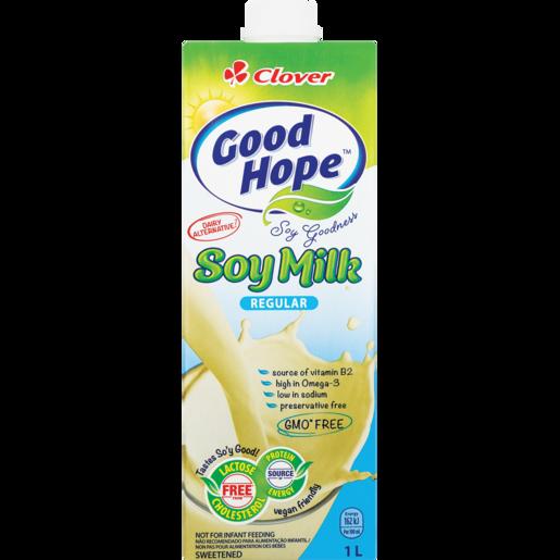 Clover Good Hope UHT Regular Soy Milk Carton 1L