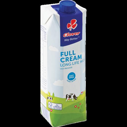 Clover UHT Long Life Full Cream Milk Carton 1L