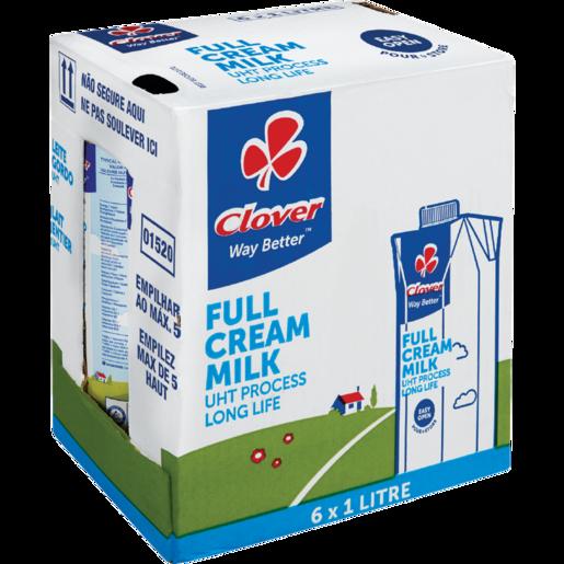 Clover UHT Long Life Full Cream Milk Carton 6 x 1L