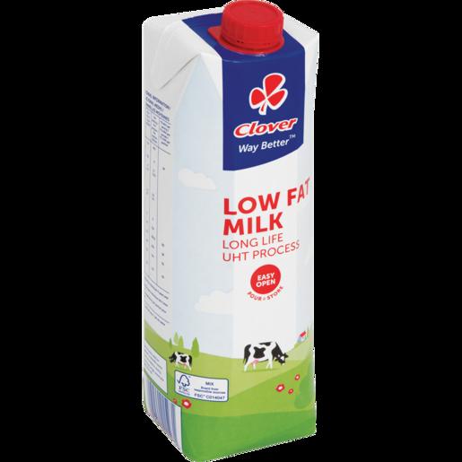 Clover UHT Long Life Low Fat Milk Carton 1L
