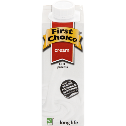 First Choice UHT Long Life Dessert Cream 250ml