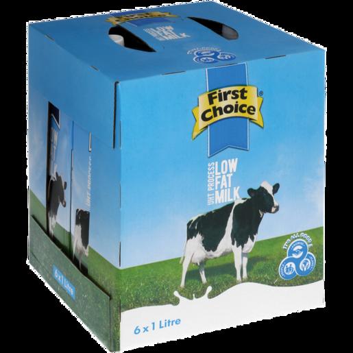First Choice UHT Low Fat Milk 6 x 1L