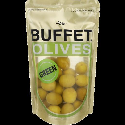 Buffet Green Olives Sachet 200g