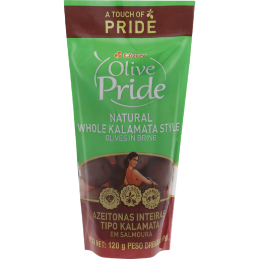 Clover Olive Pride Natural Whole Kalamata Style Olives In Brine 120g
