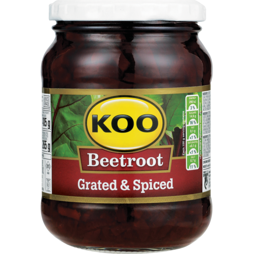Koo Grated & Spiced Beetroot 405g