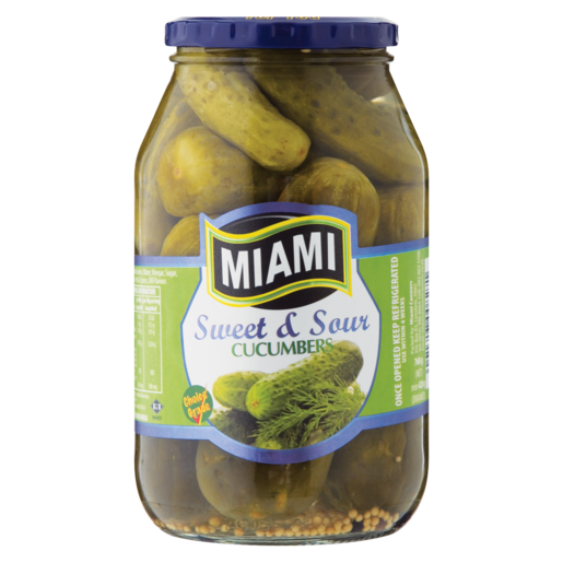Miami Sweet & Sour Cucumbers 760g
