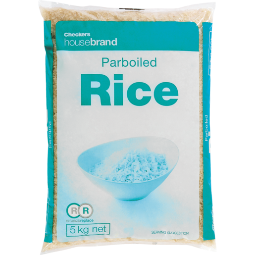 Checkers Housebrand Parboiled White Rice 5kg