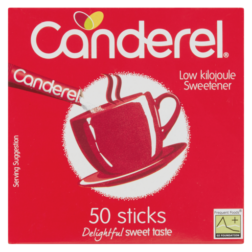 Canderel Low Kilojule Sweetener Sticks 50 Pack