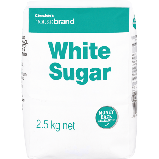 Checkers Housebrand White Sugar 2.5kg