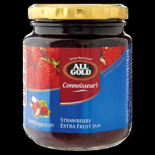 All Gold Strawberry Extra Fruit Jam Jar 320g