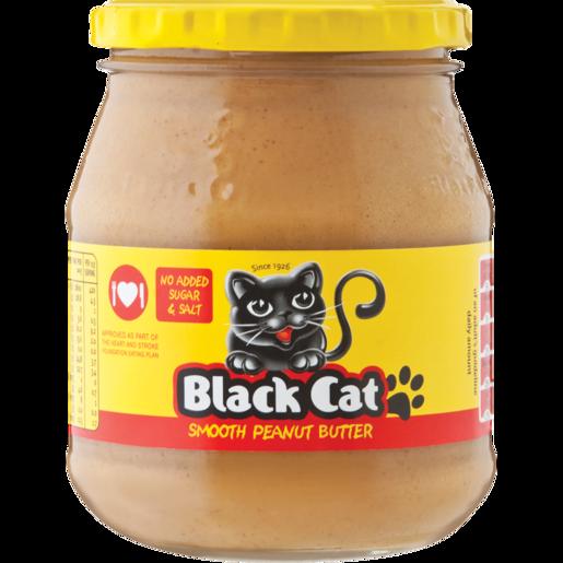 Black Cat No Salt Peanut Butter Jar 400g