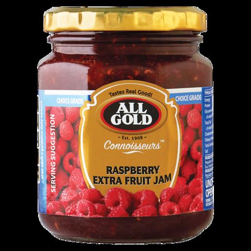 All Gold Raspberry Extra Fruit Jam Jar 320g