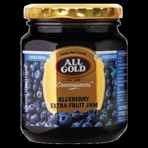 All Gold Blueberry Extra Fruit Jam Jar 320g