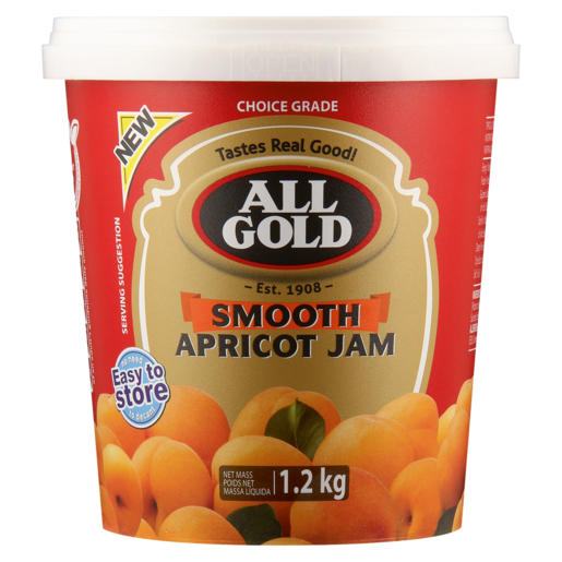 All Gold Smooth Apricot Jam Tub 1.2kg