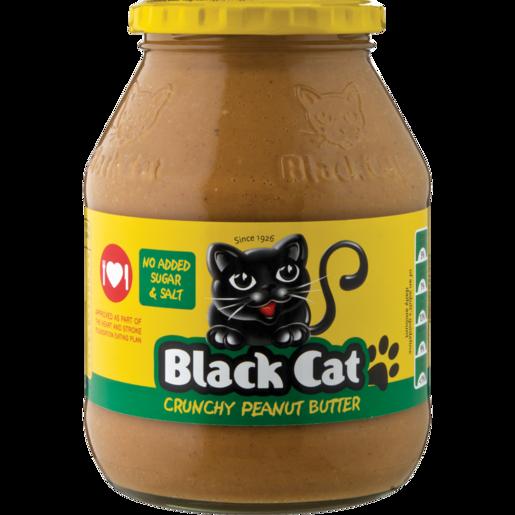 Black Cat No Salt Crunchy Peanut Butter 800g