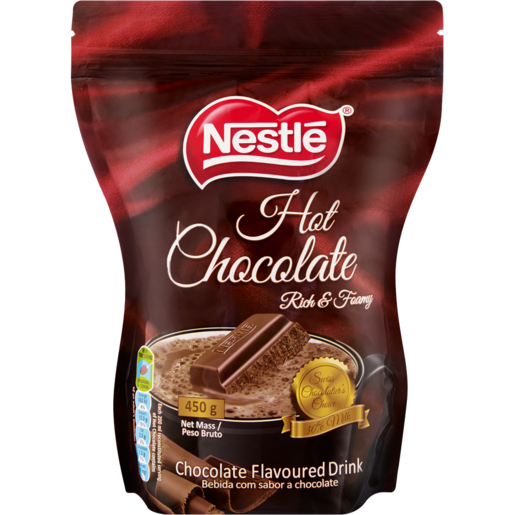 Nestle Rich & Creamy Hot Chocolate Beverage Pouch 450g