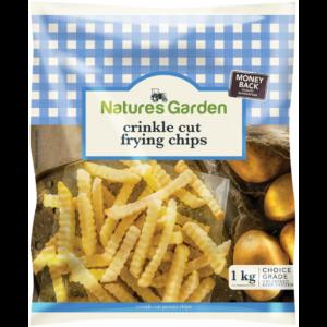 Natures Garden Frozen Crinkle Cut Frying Potato Chips 1kg