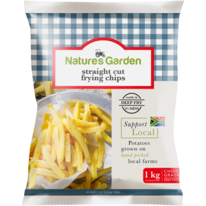 Natures Garden Frozen Straight Cut Frying Chips 1kg