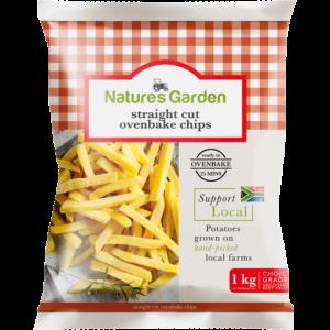 Natures Garden Frozen Straight Cut Ovenbake Chips 1kg