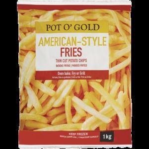 Pot O' Gold Frozen American Fries Potato Chips 1kg
