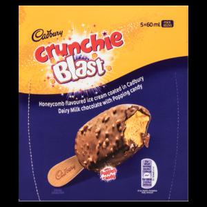 Cadbury Crunchie Blast Mini Ice Cream Sticks 5 x 60ml