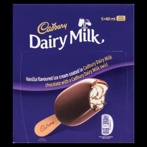 Cadbury Dairy Milk Mini Ice Cream Sticks 5 x 60ml