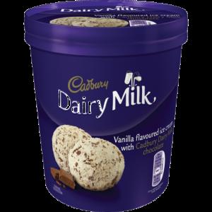Cadbury Dairy Milk Vanilla Flavoured Ice Cream Tub 480ml