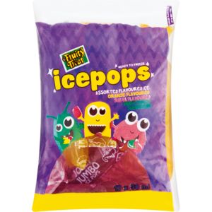 Fruity Treat Frozen Assorted Flavoured Ice Pops 12 Pack