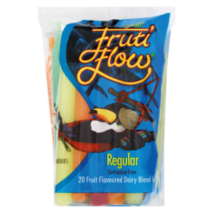 Fruti Flow Regular Fruit Flavoured Dairy Blend Ice Lollies 20 Pack