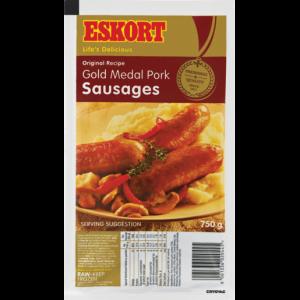 Eskort Gold Medal Pork Sausages 750g
