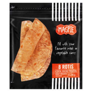 Magpie Frozen Roti 8 Pack
