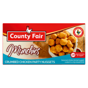 County Fair Munchies Frozen Crumbed Chicken Party Nuggets 400g