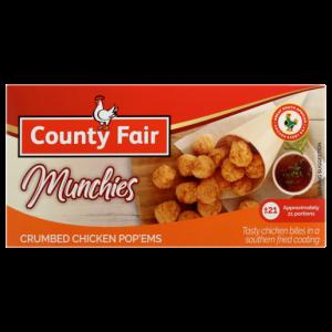 County Fair Munchies Frozen Crumbed Chicken Pop'ems 250g