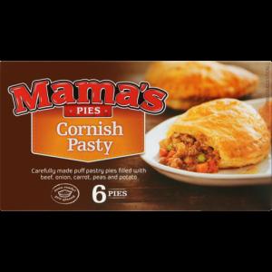 Mama's Pies Frozen Cornish Pasty Pies 6 Pack